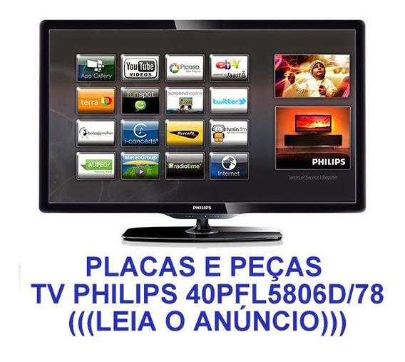 Peças Barra Led Carcaça Tv Philips 40pfl5806d 40pfl5806