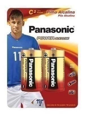 Pilha Panasonic Alcalina Lr14 Média Com 2 Unidades En 27607