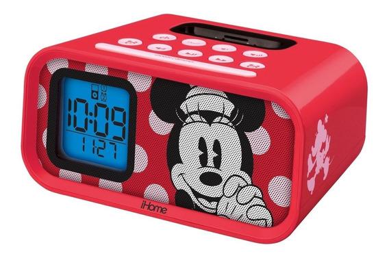 Despertador Minnie Mouse Dual Alarm Clock And 30-pin iPod S