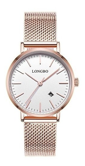 Longbo Simple Watches Stainless Steel Band Analog Display Q