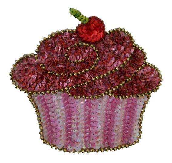 Parches Lentejuela Cup Cake Ropa Aplicación Accesorios Moda!