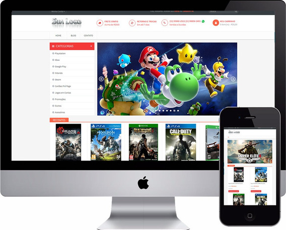 Loja Virtual Para Video Games E Acessorios