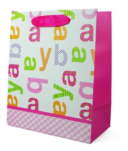 Sacolinha De Papel Para Presentes Bebê Baby - 22x18 Cm
