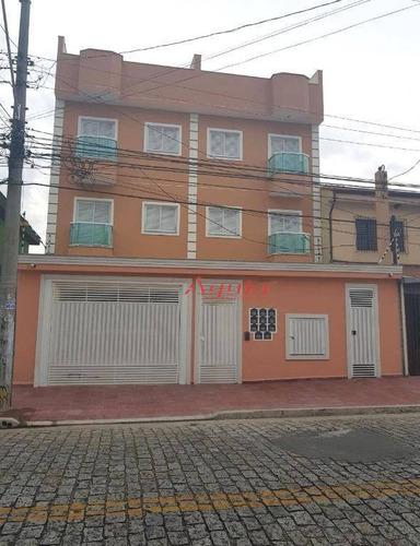 Apartamento Com 2 Dormitórios À Venda, 54 M² Por R$ 339.200,00 - Bangu - Santo André/sp - Ap1180
