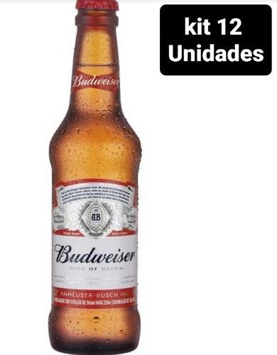 Kit Com 12 Unid Cerveja Budweiser 330ml Long Neck