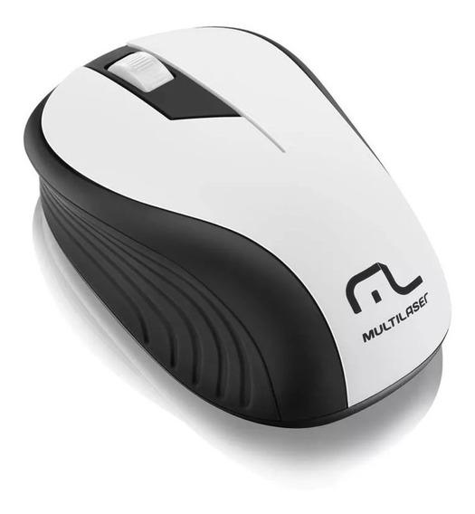 Mouse Multilaser Sem Fio 2.4ghz Preto E Branco Usb - Mo216