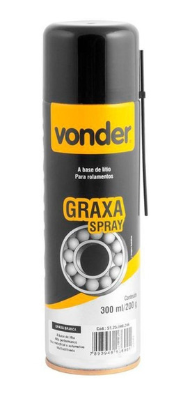 Graxa Spray Branca 300ml 5125040246 Vonder Vonder
