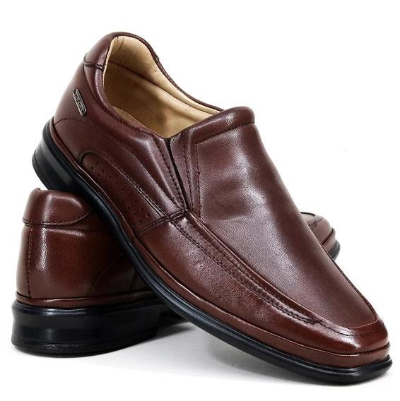 Sapato Social Masculino Couro Legitimo Conforto Frete Grátis