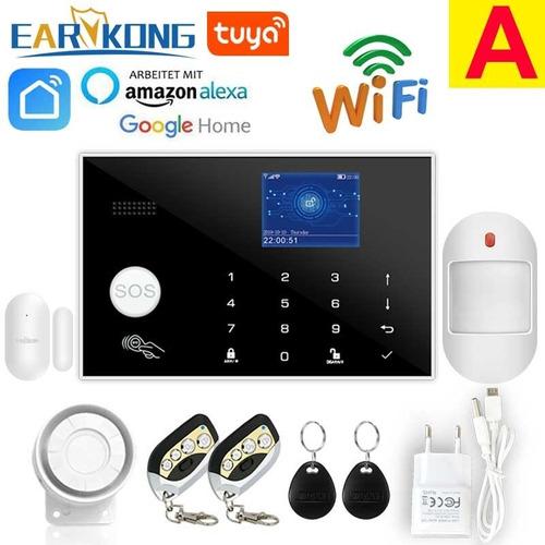 Sistema De Alarma Wifi/gsm 433mhz/hogar, Inalámbrico, Alexa