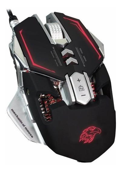 Mouse Mecânico Macro Gamer 3200 Dpi Kmex Mo-d837 Com Led