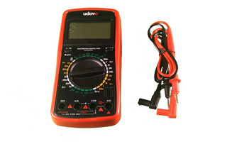 Multimetro Tester Digital Udovo Ac Dc Data Hold Display Led