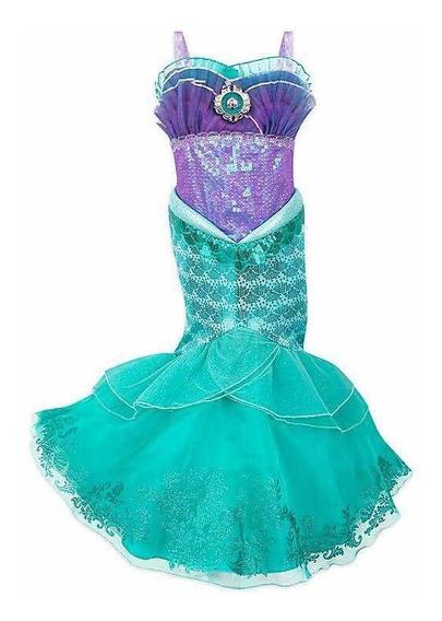 Disfraz Vestido Ariel Sirenita 2019 Orig. Disney Store