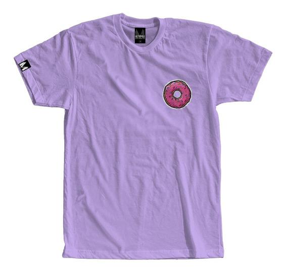 Camiseta Camisa Donuts Homer Moda Tumblr Rosquinha Simpsons
