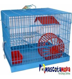 Jaula Completa Económica Dos Niveles Para Hamster Accesorios