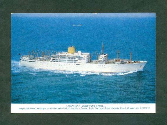 Royal Mail Lines . Barco Arlanza Tarjeta Publicitaria
