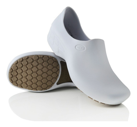 Calçado Para Cozinha Antiderrapante Stick Shoes Branco