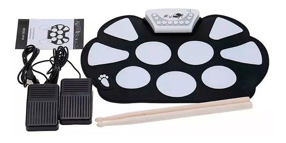 Bateria Eletronica Musical Portátil Roll Up Com Baqueta +nfe