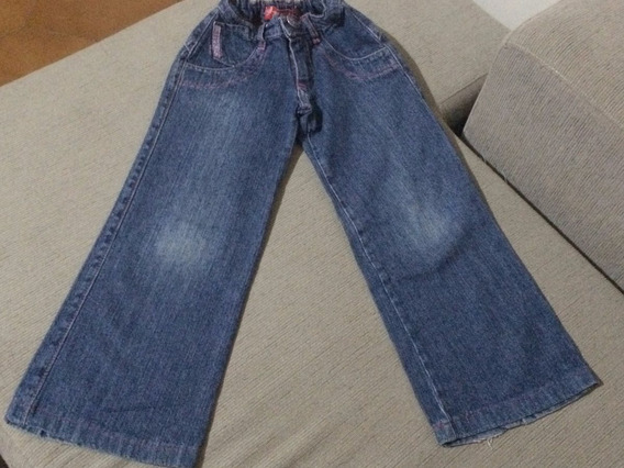 Jean Pantalon Azul Recto Nena Talle 6