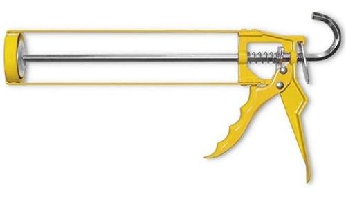 Imagen 1 de 10 de Pistola Aplicadora Silicona Metal Cartucho Esqueleto Barovo