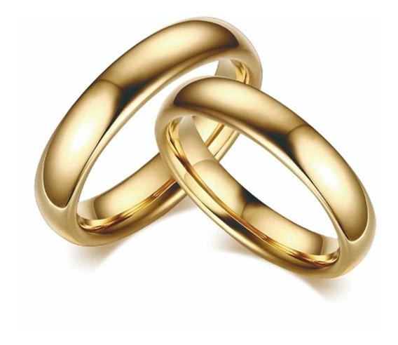Set 2 Anillos Arras Boda Matrimonio Tungsteno 18k Oro