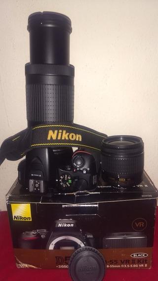 Nikon D5500 Lente Afp 18-55 Mais 70-300 Só 9k Cliks Excelent