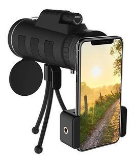 Lente Celular Super Zoom 40x60 Telescópio Monóculo Universal