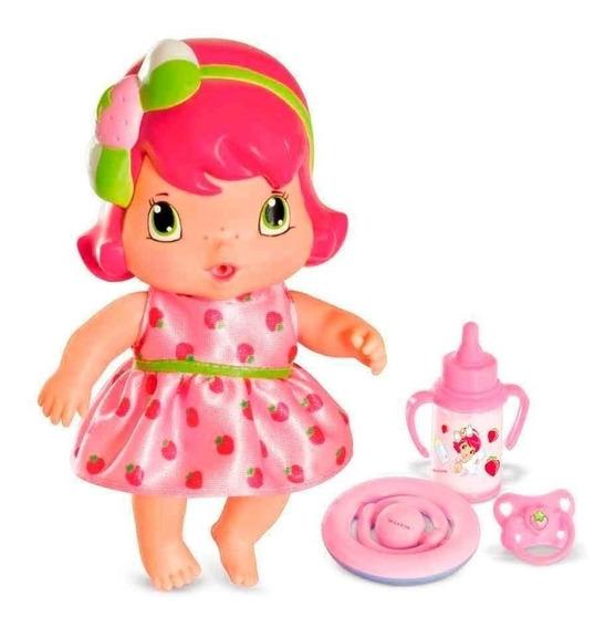 Boneca Moranguinho Com Acessorios Morango Baby 20 Cm