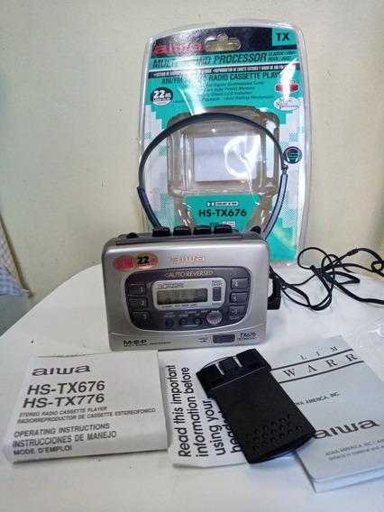 Walkman Aiwa Tx676 Novo Sem Uzo