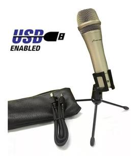 Micrófono Usb Podcast Profesional Radios Estudios Zoom