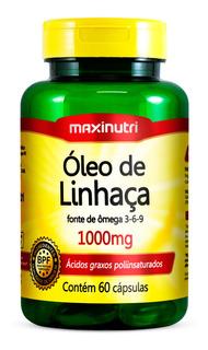 Óleo De Linhaça 1000mg Com 60 Cápsulas Maxinutri