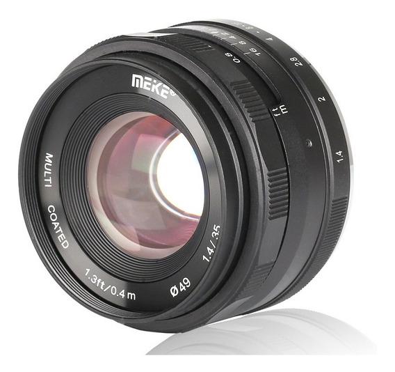 Lente Meike 35mm F1.4 Para Câmera Sony E-mount Alpha Nex