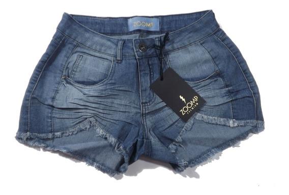 Short Jeans Draped Zoomp Feminino- Uni000618-universizeplus