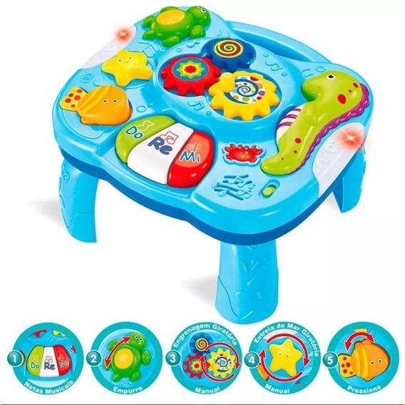 Mesa Educativa Infantil De Bebe Musical Atividaes Brinquedo