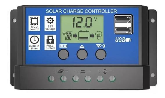 Controlador De Carga 60a 12v/24v Placa Solar Lp Pwm Mppt