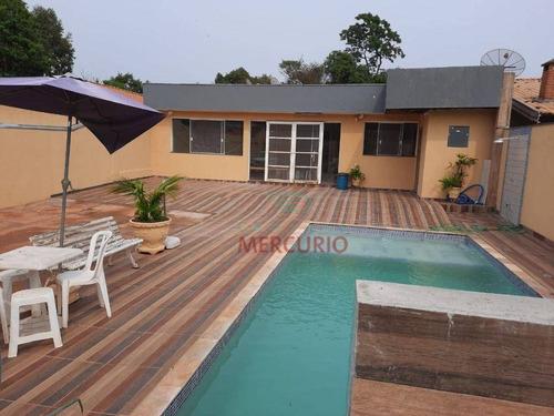 Imagem 1 de 25 de Chácara Com 4 Dormitórios, 500 M² - Venda Por R$ 380.000,00 Ou Aluguel Por R$ 2.300,00/mês - Vale Do Igapó - Bauru/sp - Ch0151