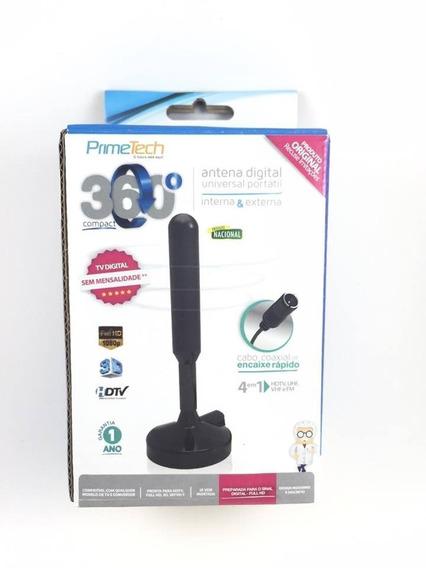 Antena Int-ext. Digital Hdtv 360 Compac Primetech C/2 Peças