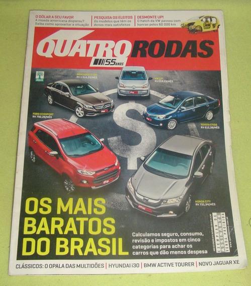 Revista Quatro Rodas -edição 675 -outubro De 2015 -f. Grátis