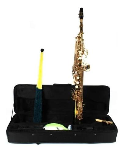 Saxofone Soprano Jahnke Sib Reto Dourado -  Instrumento Novo