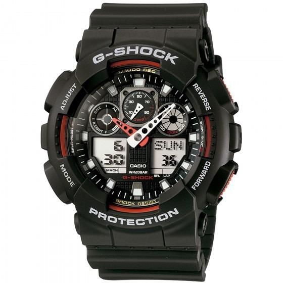 Relógio Casio Ga-100-1a4dr Masculino Preto - Refinado