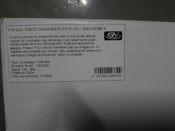 Fonte Chaveada P/ Cftv 12 Volts 20 Amperes Com Cooler.