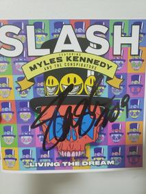 Cd Slash Living The Dream Autografado