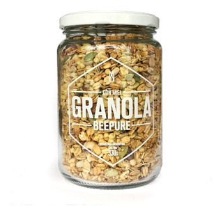 Granola Artesanal Con Miel Beepure Frasco 330g