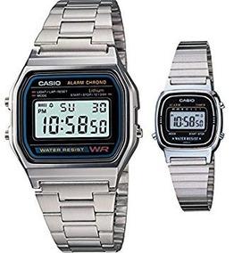 Relógio Casio Vintage Mod: A158wa-1df Prata Frete + Nota