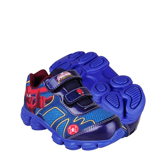 Tenis Spider Man Sm4503 14-21 Textil Azul
