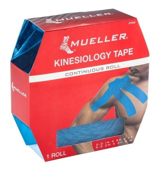 Mueller Cinta Quinesiológica Rollo De 5 Cm X 30 M. Azul