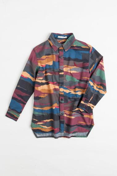 Camisa Mini Sm Listra Rasgada Reserva Mini