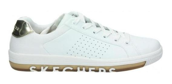 Tenis Skechers Street Sweet - Blanco/oro - Mujer - 73630wtgd