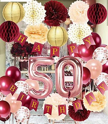 Decoraciones De Cumpleaños 50 Para Mujer. Marca Pyle