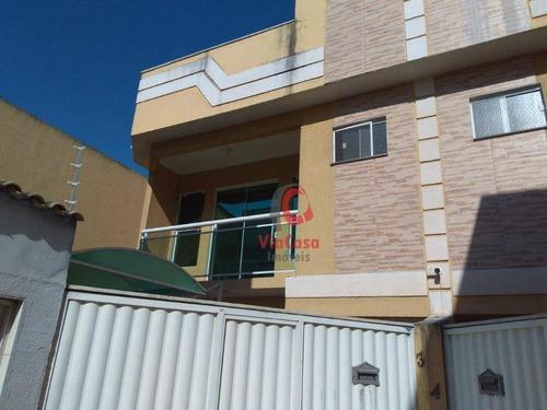 Casa Com 2 Dormitórios À Venda, 130 M² Por R$ 450.000,00 - Village Rio Das Ostras - Rio Das Ostras/rj - Ca1869