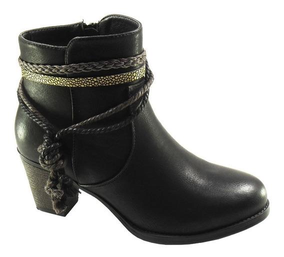 Botas Mujer Invierno Zapatos Massimo Chiesa Taco Paz